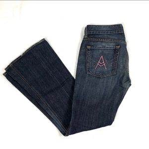 """SFAM 7 for all mankind pink """"A"""" pocket jean"""
